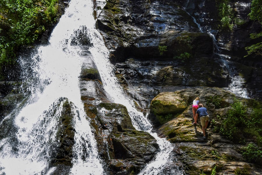 Hike To Blue Hole And High Shoals Creek Falls Georgia