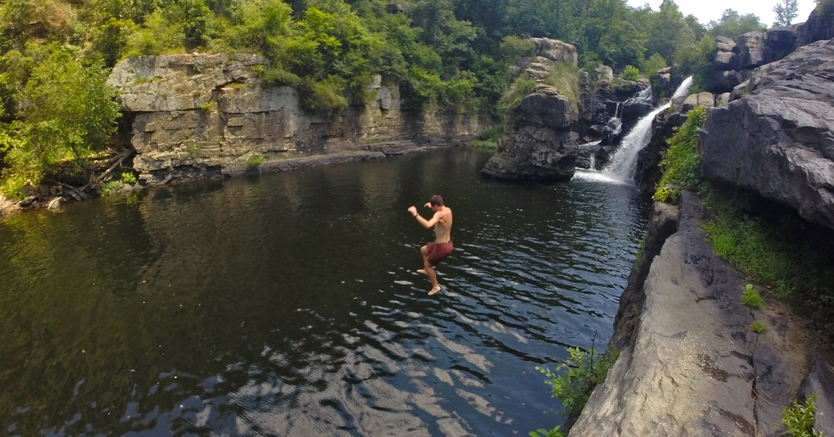 Cliff Jump at High Falls Park, High Falls Park