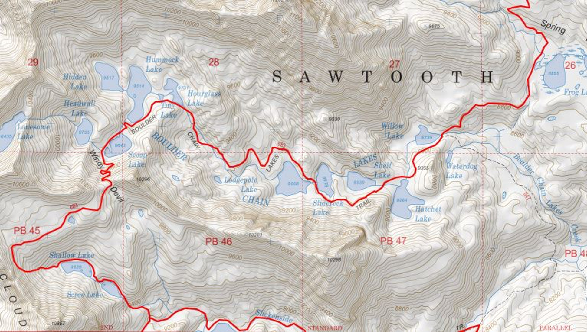 Every Backpacker Should Print Their Maps From Caltopo. Here's Why. on political map of california, geological map of california, topo map of california, printable map of california, rand mcnally map of california,