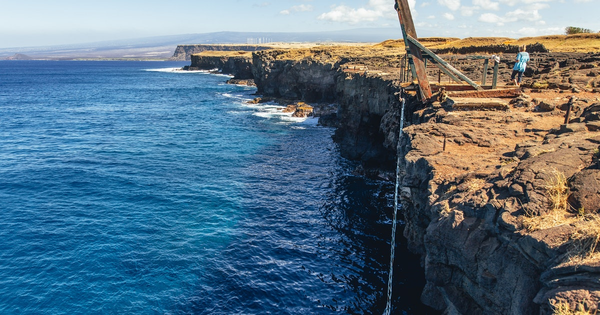 Cliff Jump From Hawaii S South Point South Point Big