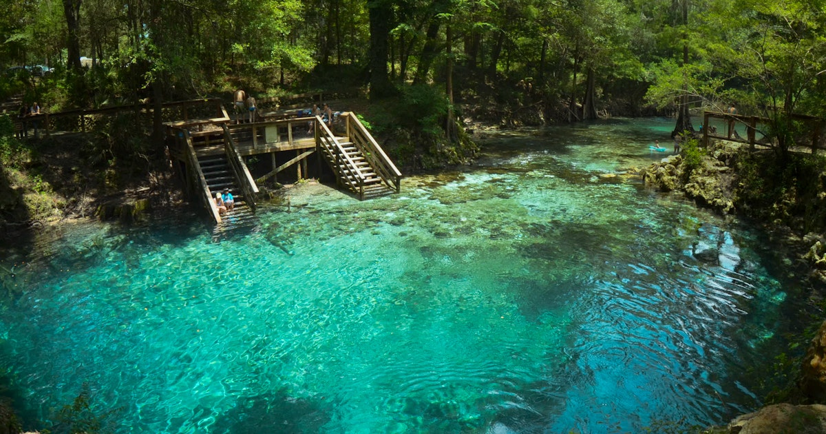 Swim and Cliff Jump at Madison Blue Springs, Madison Blue Springs