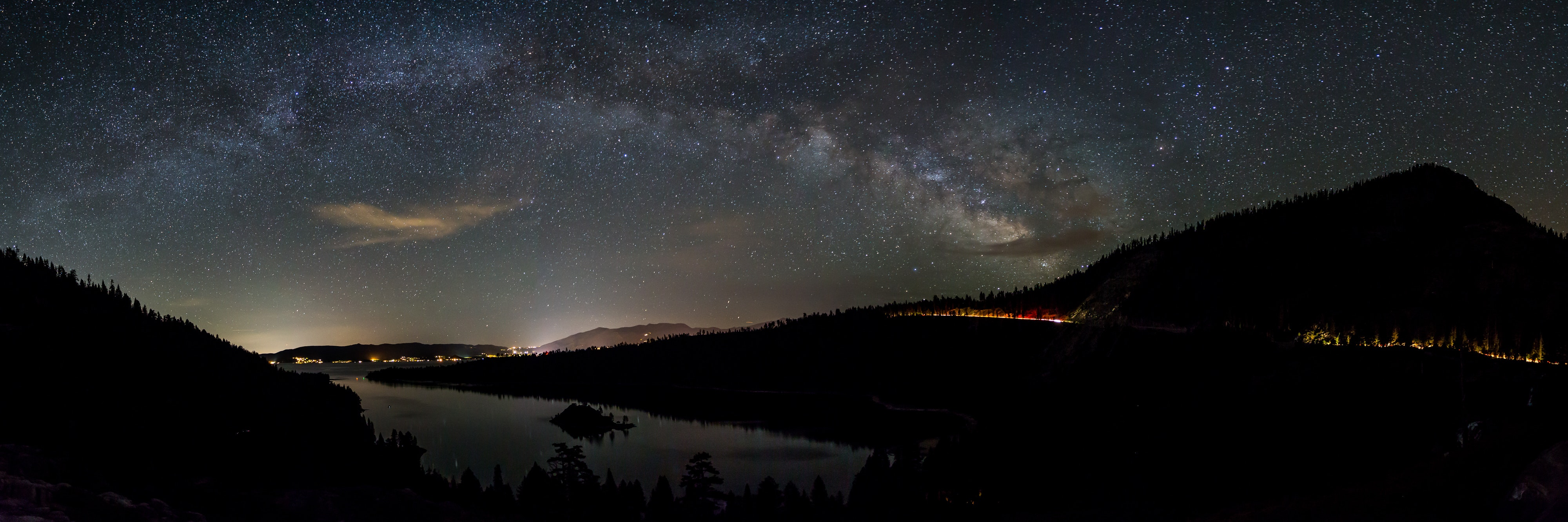 capture the milky way over emerald bay  lake tahoe