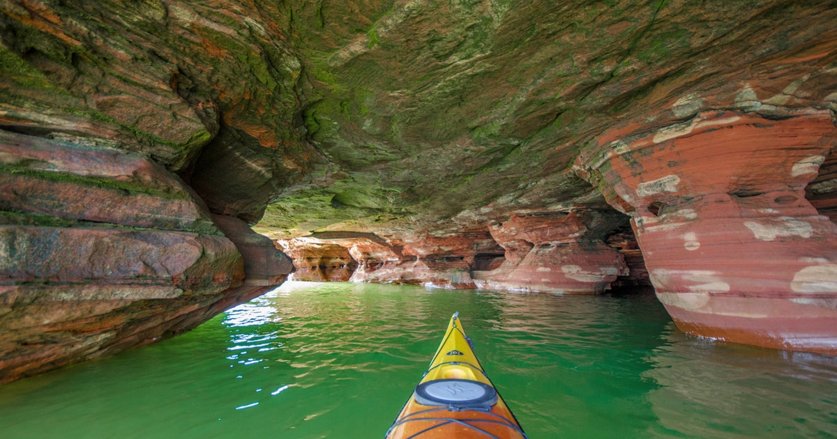 Sand Lake Auto >> Kayak to the Sand Island Sea Caves, Little Sand Bay Campground