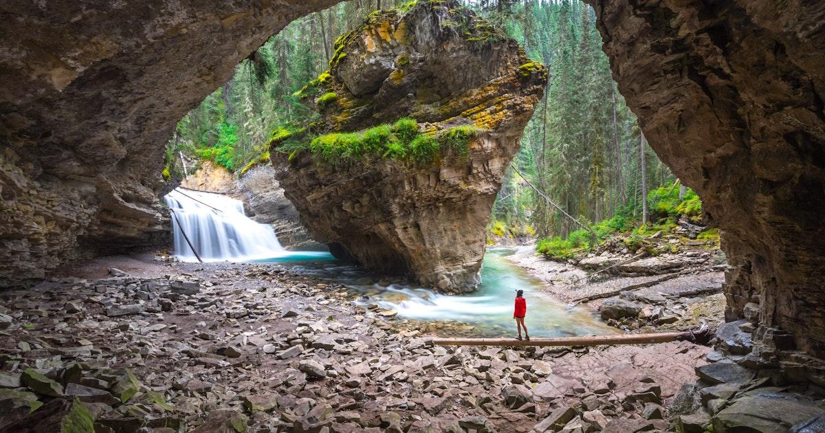 Johnston Canyon Waterfall - Alberta, Canada