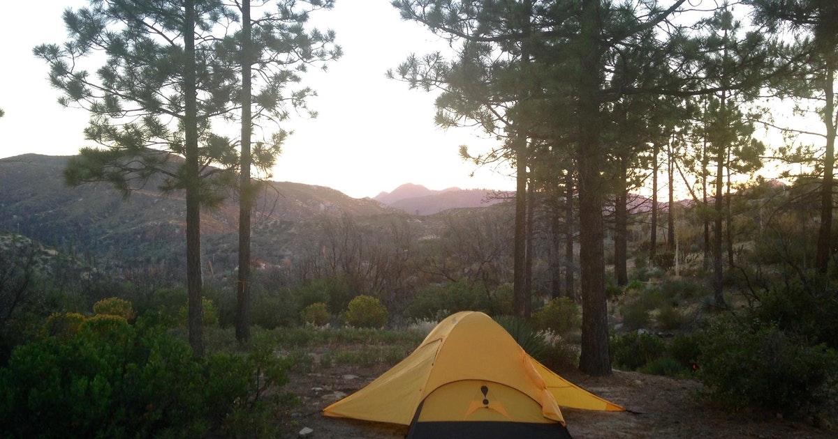 Camp at chilao campground los angeles for Camping cabins near los angeles