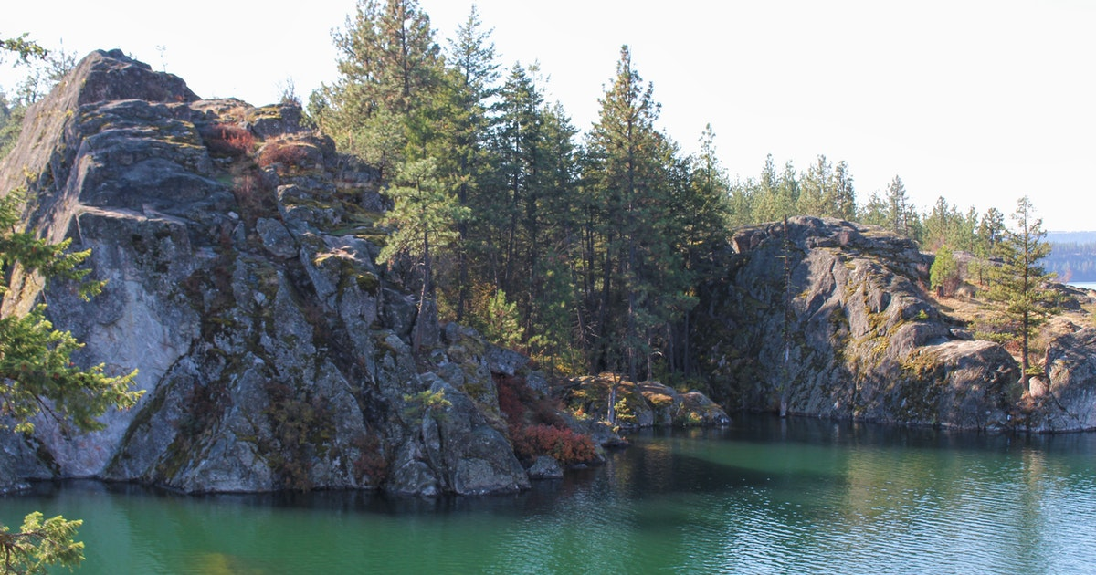 Cliff Jump and Swim at 'The Cove', The Cove, Long Lake