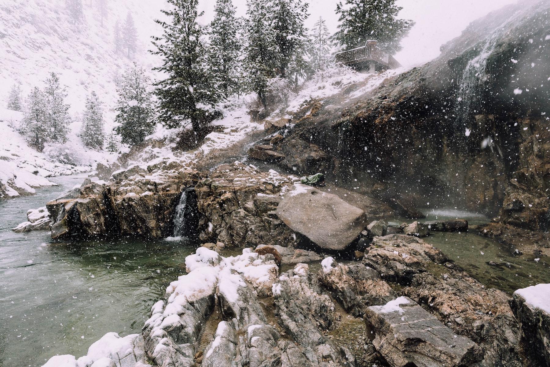 Soak in Kirkham Hot Springs, 7359 Idaho 21