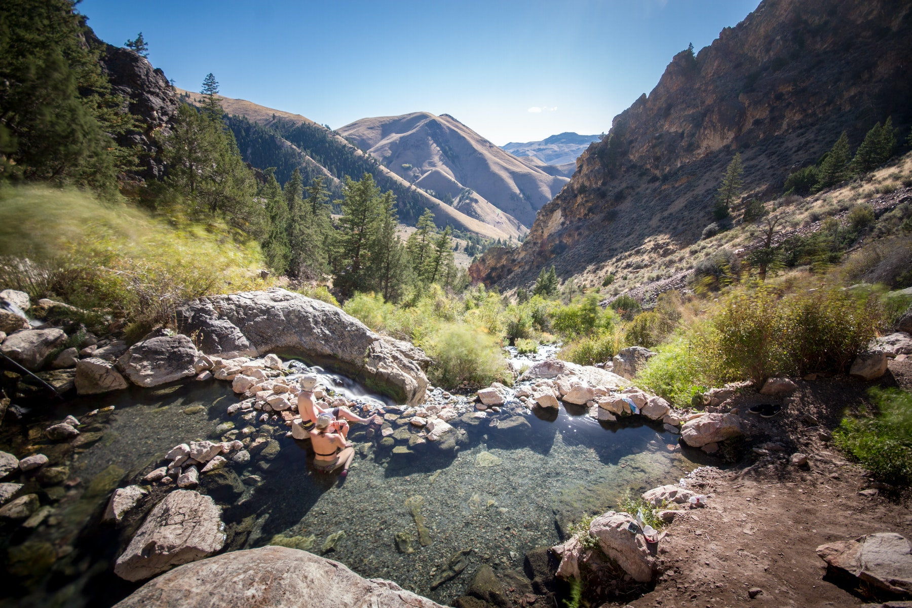 Hike & Soak in Goldbug Hot Springs, Goldbug Hot Springs