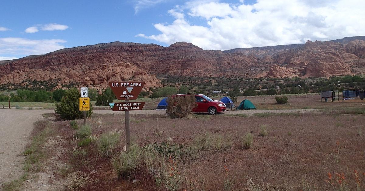 Camp at Kens Lake Campground, Utah