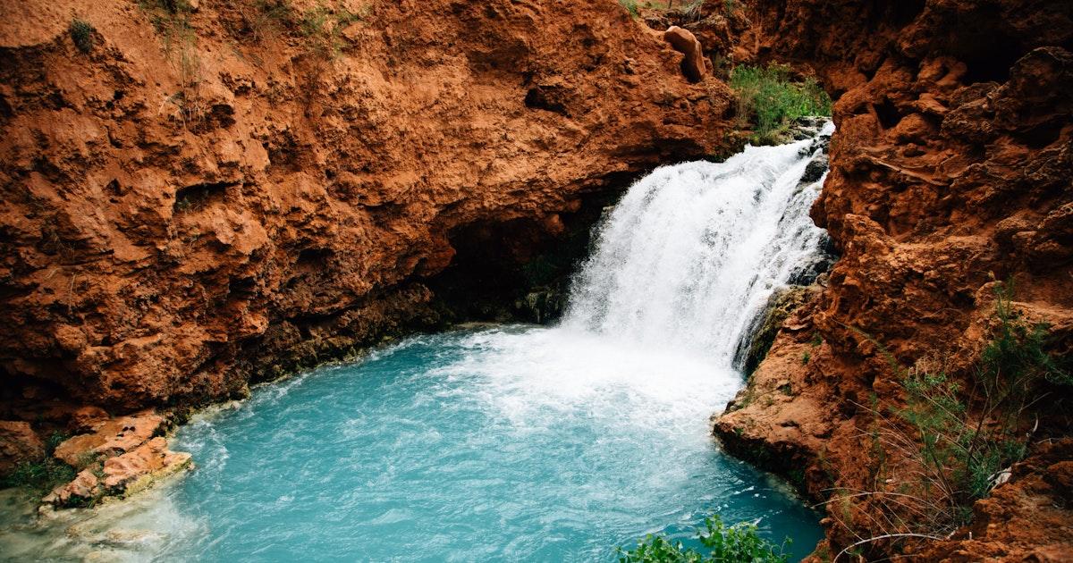 Hike To Hidden Falls In The Havasupai Reservation Havasu